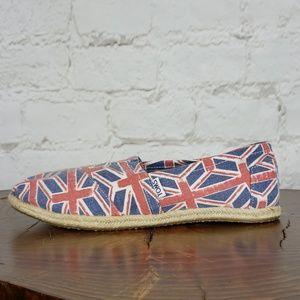 Toms Union Jack rare shoes size 10 Like New!!!!